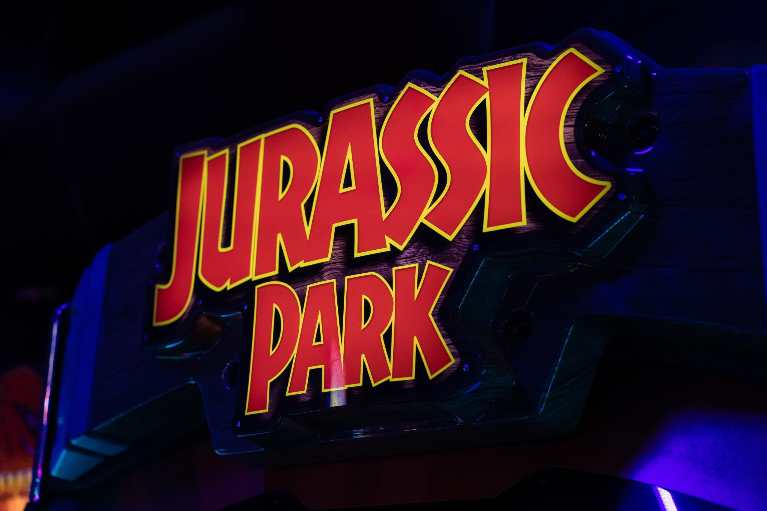Jurassic Park Sign - Glo Mini Golf, Riverside, CA